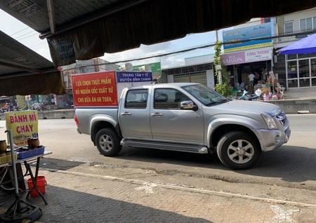 Huyện Bình Chánh truyền thông hưởng ứng tháng hành động vì an toàn thực phẩm năm 2020 bằng xe loa tuyên truyền trên các tuyến đường của Huyện.
